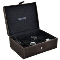 Jacob Jones 73802 Cambridge Collection 8pc Watch Box.